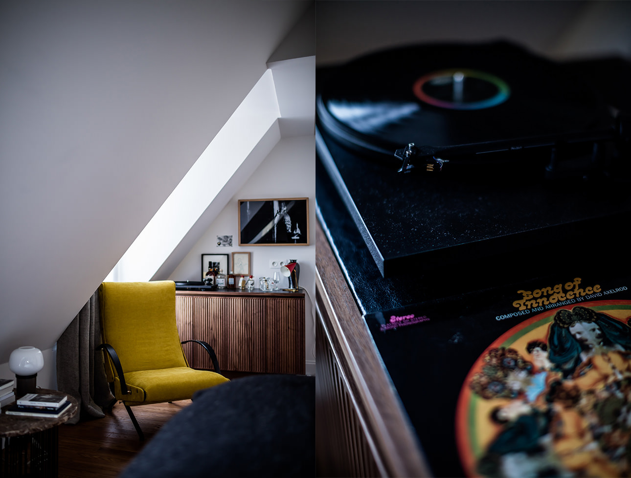 le-pigalle-hotel-suite-midcentury-decor-turntable-vinyl-records