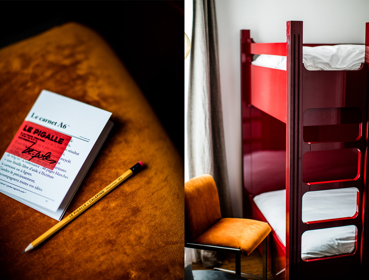 stationery-amenities-hotel-le-pigalle-bunk-beds